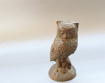 Awesome Vintage Brass Owl figurine
