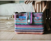 zipper pouch - coin pouch - ID zip pouch - Navajo ziper pouch - small travel bag - mini travel pouch