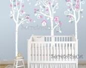 Nursery wall Decal - Wall Decals Nursery -Tree Decal - Birch Trees decal - Birch trees - Wall Decal - Tree
