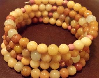 Wrap Bracelets Boho Style  Aventurine Quartz and Carnelian