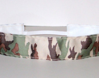 No Slip Headband, Camo, Camouflage, Wide Headband,  Party Favor, Hair, Fashion, Marathon, Workout, Exercise, Hunter, Outdoors,  Jogger