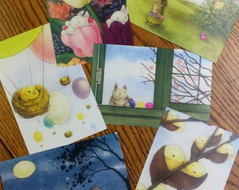 6 EASTER POSTCARDS by Mary Melcher