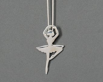 Sterling Silver Ballerina Necklace, Ballet Dancer Necklace, Birthday Gift, Children's Jewelry, Kids Jewelry, Girl's Gift