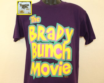 Brady Bunch Movie vintage t-shirt M/L purple 90s 1995 cotton Tennessee Gold
