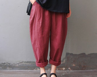 Casual Loose Fitting Comfortable and casual Radish pants - Women Clothing (QK006)