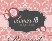 RESERVED LISTING (Russel) - custom wedding invites - DEPOSIT