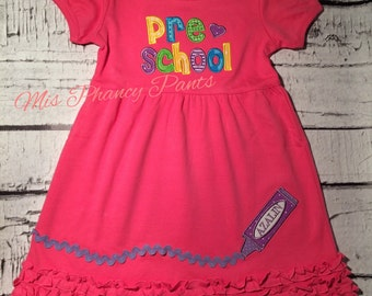 Pink Preschool Dress with playground shorts
