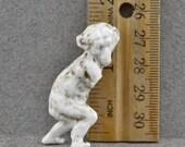 Vintage Antique Excavated  German Porcelain Miniature Monkey For Doll Making Altered Art