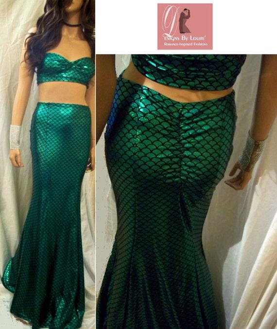 mermaid maxi skirt with matching top green maxi skirt set