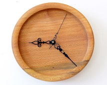 Wood Wall Clock, Turned Wood Clock, American Lacewood Wall Clock, Sycamore