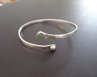 Sterling Silver and Adventurine Bangle