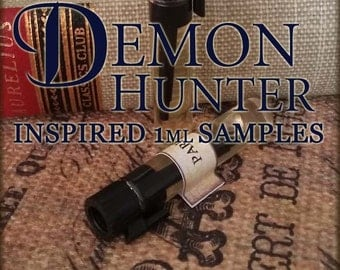 DEMON HUNTER Perfume Oil Samples / 1ml perfume / Supernatural Perfume Oil / Vegan perfume / Mens Cologne