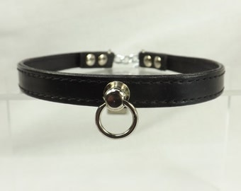 BDSM Day Collar Locking O ring collar Submissive Collar mature bdsm jewelry