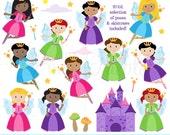 Fairy Clipart, Fairy Clip Art, Garden Fairies or Tooth Fairy Clipart Clip Art - Commercial and Personal Use