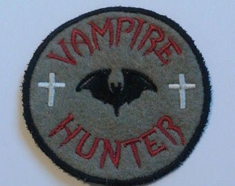Vampire Hunter patch, bat, patches, Vampire Slayer, Bram Stoker, Dracula, UK