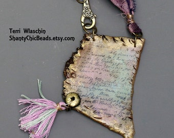 """Poly Clay Letter Necklace -  """"Secret Lover"""""""