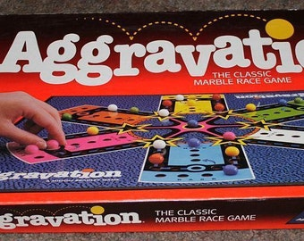Vintage Aggravation Board Game 100% Complete 1989 Toy
