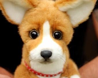 Realistic puppy Welsh Corgi Pembroke Max