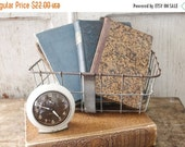 SHOP SALE Vintage Small Wire Bike Basket