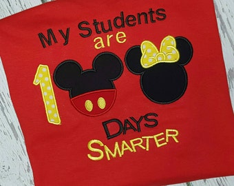 100 Day of School Disney Shirt My Students are 100 Days Smarter