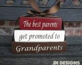 "Mothers/Fathers Day ""MINI"" stacker blocks--The best  parents get promoted to Grandparents"