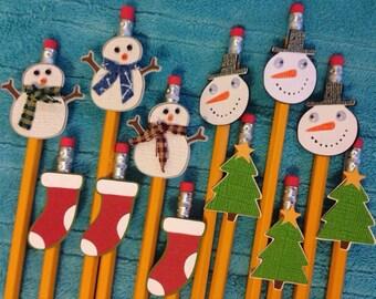 Dozen Christmas pencils