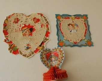 Victorian Valentines plus Beistle honeycomb
