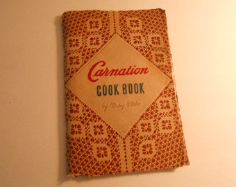 vintage Carnation Cookbook by Mary Blake 1945