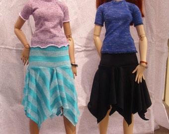 SD BJD Knit Handkerchief Hem Skirt