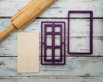 Belle's Door with Imprint Frame Cookie Cutter and Fondant Cutter and Clay Cutter