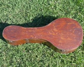 Vintage Hand Made Flat Back Mandolin Case - 1920s