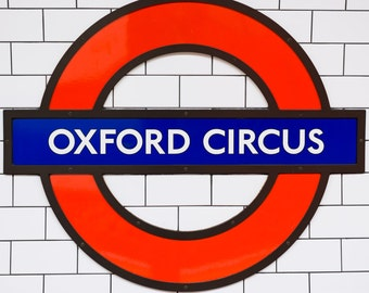 Oxford Circus Station Underground Tube Sign - Photograph