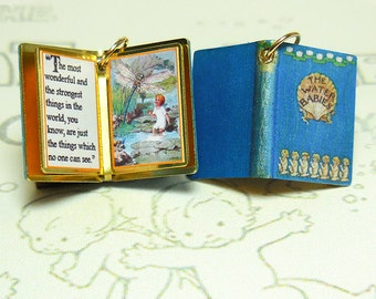 The Water Babies by Charles Kingsley - Miniature Book Charm Quote Pendant - for charm bracelet or necklace. Custom available!