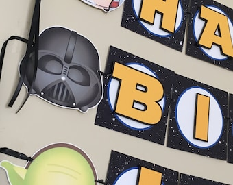 Tsum Tsum STAR WARS Birthday Party or Baby Shower Banner - 1st 2nd