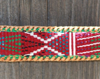 Leather Weaved Native Design