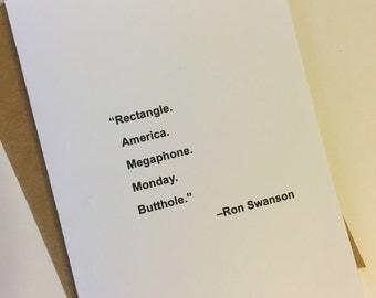 Rectangle. America. Megaphone... - Blank Card