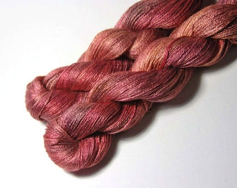 Pure Silk LACE  in Autumn Sunset  - One of a Kind