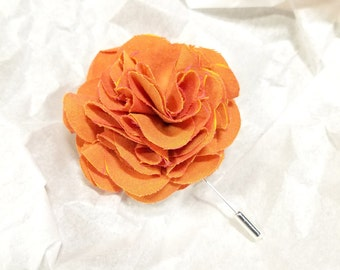 Men's Custom Wedding Boutonniere, Lapel Pin, Floral Boutonniere, Eco Friendly Wedding Accessories, Choose Your Color