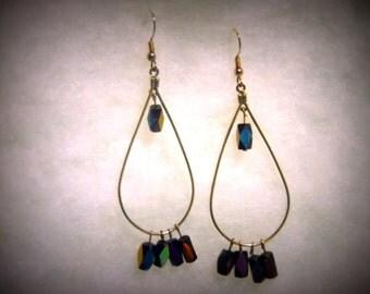 Teardrop Multi-Color Dangle Earrings
