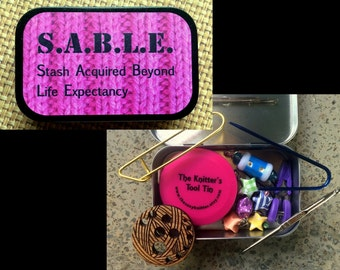 SABLE: The Knitter's Tool Tin for your Knitting Bag