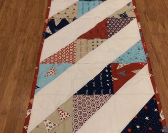 Patriotic Table Runner, 13 x 46 inches
