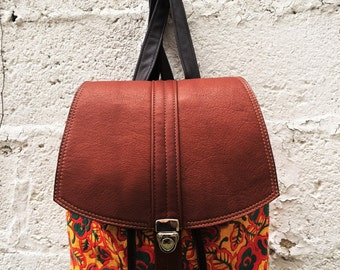 Luxurious Floral Goatskin Backpack- Laurel Dasso