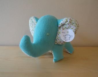 Baby Safe Large Stuffed Elephant- Teal