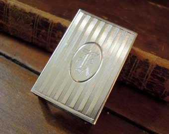 Sterling Silver Match Box Holder / Match Safe / Matchbox / Sterling Silver Match Holder / Monogrammed K