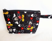 Mickey and Minnie Mouse Makeup Bag // Disney Cosmetic Bag