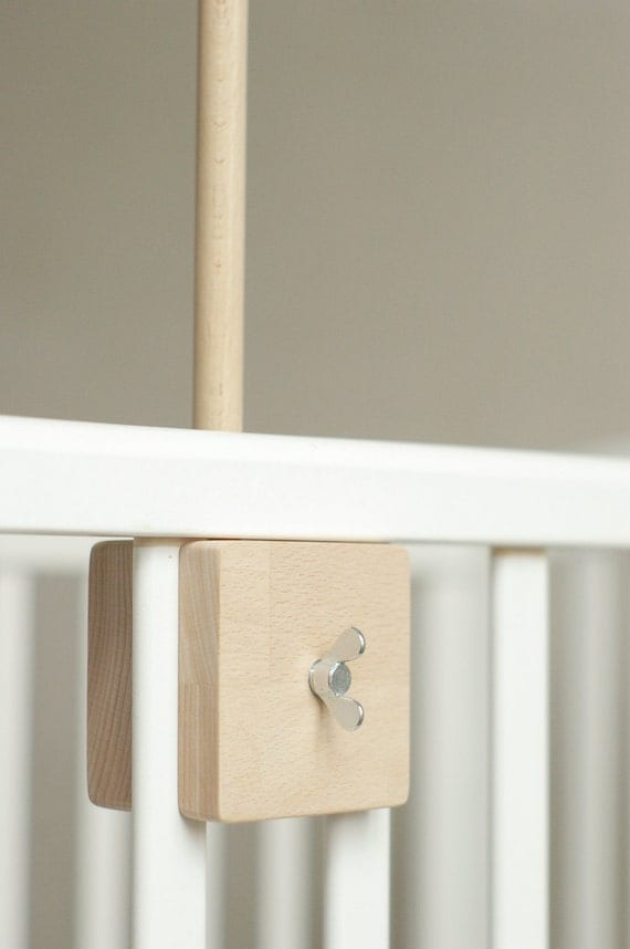 baby crib mobile holder wooden mobile arm baby by patricija. Black Bedroom Furniture Sets. Home Design Ideas