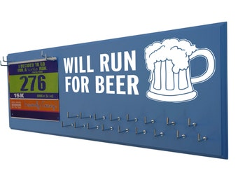 Running medals holder - holder for medals - medals holder - running medals holder - Will run for beer