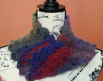Wildflower Twisted Shell Crocheted Cowl -  Ready to Ship