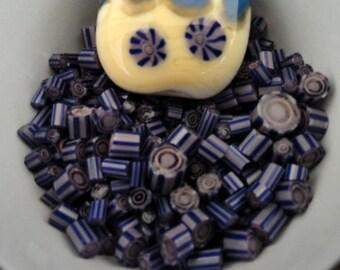 Murrini Chips, Blue Lagoon, Lampwork Supplies, COE 104, 20 Chips, Murrini Pieces, Emerald City Glass,  Blue Murrini, Purple Murrini