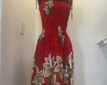 Short hawaiian dress